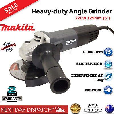 "Makita Angle Grinder 720W 125mm (5"") MT Series Lightweight Power Tool M9508G"