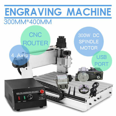 Top Engraving Cutter 4 Axis 3040 T-Screw Desktop Usb Cnc Router Engraver Cutting