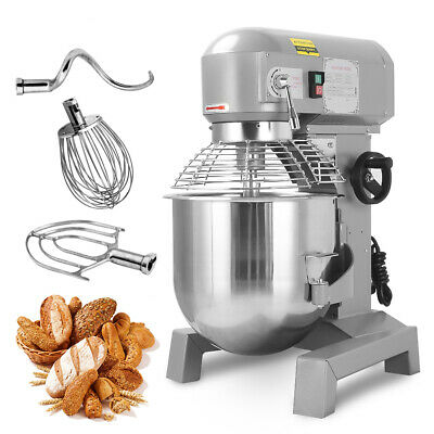 Three Speed 30Qt Commercial Dough Food Mixer Gear Driven Pizza Bakery 2.4HP Top