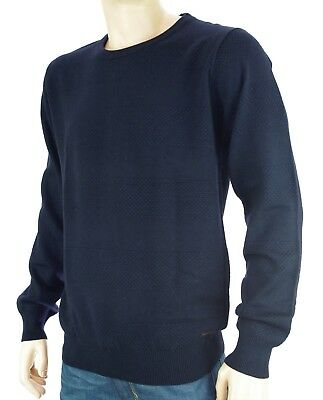 SCOTCH   SODA pull col rond bleu marine homme Crew Neck Pullover taille XL c9e40f4ce1d8