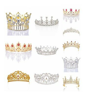 NEW Crystal Wedding Tiara Rhinestone Bridal Crown Headpiece Pageant Hair Jewelry