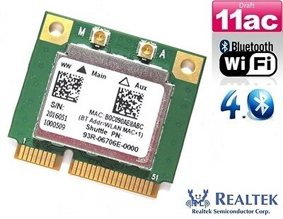 + NEU RTL8821AE Dual Band 802.11a/b/g/n/ac WLAN+Bluetooth 4.0 Mini PCIe +