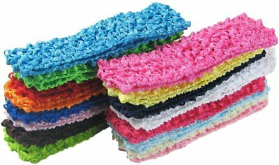 """HipGirl 16 Pack 1.5"""" Wide Crochet Elastic Stretch Boutique Headband Hair Wrap Be"""