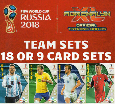 Adrenalyn Xl Fifa World Cup 2018 Full Team Sets -  Buy 3 Get 3 Free - Base Cards