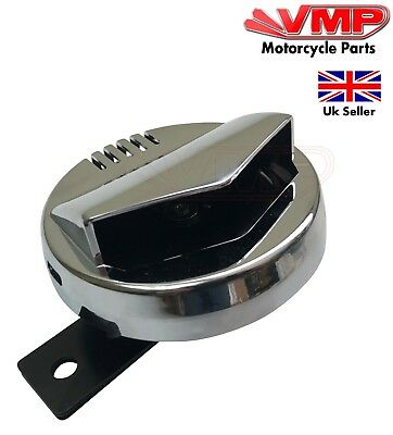 12v Loud 105db Chrome Cover Retro Horn with Bracket 12 Volt For Motorcycle Bike