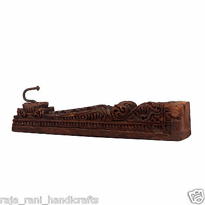 Antique Old Rare Wooden Wall Hook Beautiful Design Hand Made