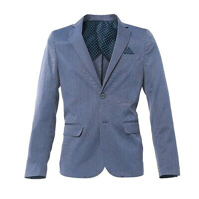 Giacca Uomo Blazer Sartoriale Slim Fit Casual Aderente Made in Italy Blu 907 c1029fcac2b