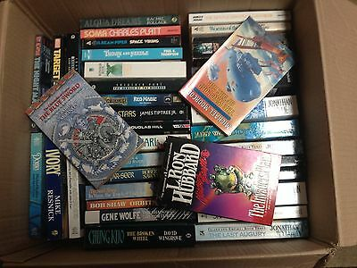 JOBLOT/WHOLESALE. Box of 100 paperback fiction books-science fiction and fantasy