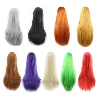 Fashion Women Long Hair Full Wig Natural Straight Synthetic Hair Wigs
