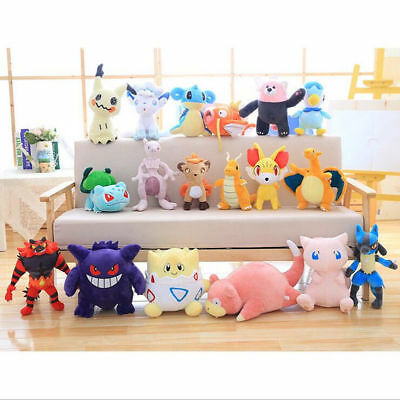 "12""-14"" Pokemon Center Character Plush Doll Soft Stuffed Toy Collectible Gift"