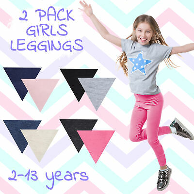 Infant Girls Leggings Cotton Rich Pants Lace Trim Soft Stretch Plain Everyday