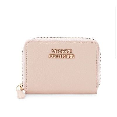 5161689d4123 VERSACE COLLECTION SAFFIANO Leather Small Wallet Pink color NWT ...