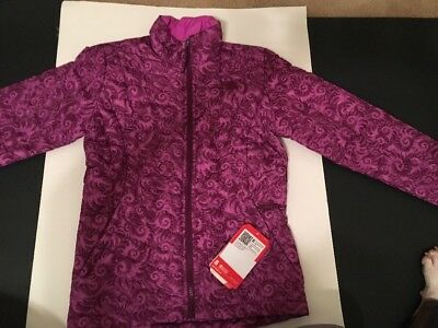 NEW The North Face Girls Thermoball Full Zip Jacket Purple Size Medium