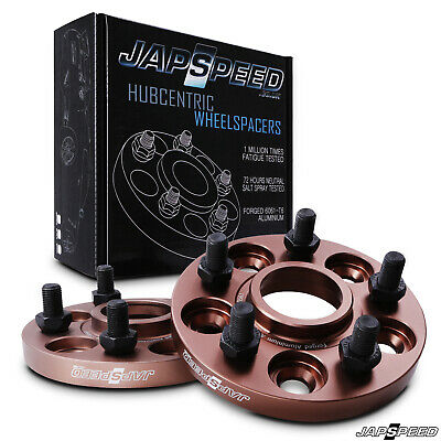 JAPSPEED 15mm FORGED ALLOY WHEEL SPACERS PAIR FOR SUBARU IMPREZA GC8 GD WRX STI