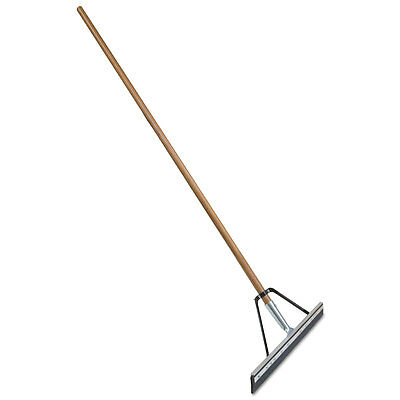 "Quickie Job Site Floor Squeegee Wood Handle w/Steel Bracket 24"" Blade 60""Handle"