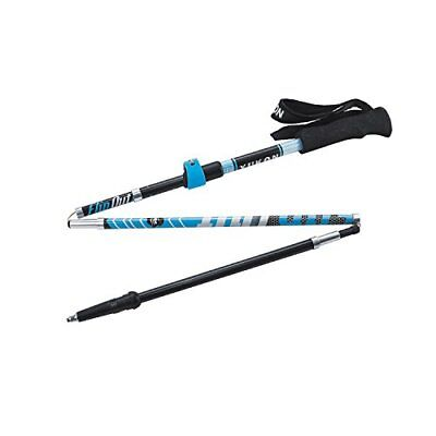 Yukon Charlies FlipOut Blue/Gray Carbon Trekking Pole with Ergonomic Rubber Grip