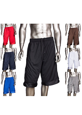 PRO CLUB MESH BASKETBALL SHORTS ProClub Men's Heavyweight Jersey Gym Short S-5XL