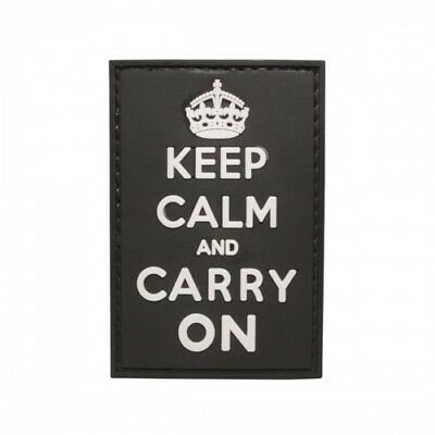 "5ive Star Gear Keep Calm & Carry On PVC Morale Patch, 1.75"" x 2.75"" Vinyl Patch"