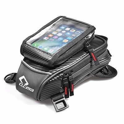 Black Motorcycle Oil Fuel Tank Bag Magnetic Motorbike Riding Waterproof Bag