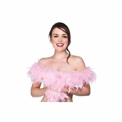 Pink Feather BoaFancy Dress Ladies Burlesque Dance Costume Accessory