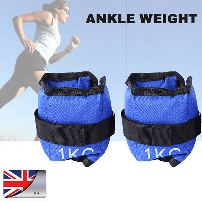 Wrist & Ankle Weights Leg Strap Resistant Strength 1KG Training Fitness Running