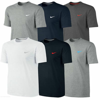 Nike New Mens T-Shirt Gym Cotton Sports Crew Jog Jogging Casual Size S M L XL