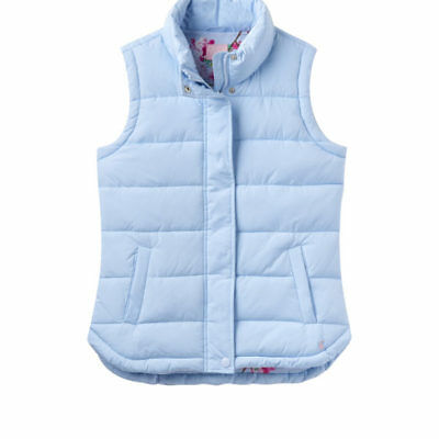 NEW! Joules Ladies Eastleigh Padded Gilet Light Blue Sizes 8 - 18