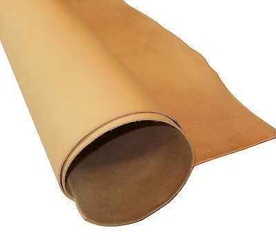 1.8Mm Thick Natural Veg Tan Craft Leather Hide Various Choice Of Sizes