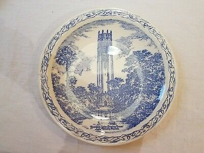 Mountain Lake Singing Tower Lake Wales Florida Vernon Kilns collector plate Blue