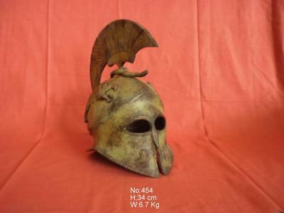 Ancient Greek Spartan Bronze Helmet Real Size Museum Replica