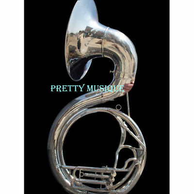 """Sousaphone 25"""" Big Bell Brass Made In Chrome Polish+ Free Case +Mp+Free Shipping"""