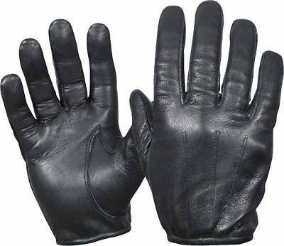 Gloves All Leather Police Duty Search Shooting Driving  Black Sizes S,M,L,XL,2XL