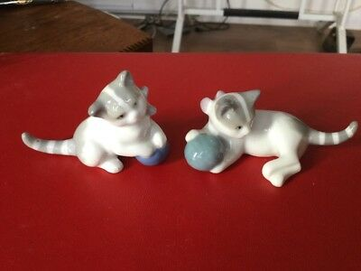 Porcelain Kittens At Play, Made In East Germany, Unknown Marking