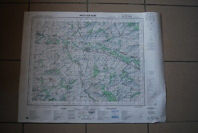 T1 Carte France ARCIS SUR AUBE 1970 plan 1/50000 type 1922 n°19 old map IGNF