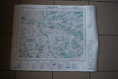 T1 Carte France ARCIS SUR AUBE 1970 plan 1/50000 type 1922 n°20 old map IGNF