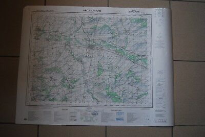 T1 Carte France ARCIS SUR AUBE 1970 plan 1/50000 type 1922 n°2 old map IGNF