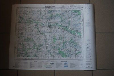 T1 Carte France ARCIS SUR AUBE 1970 plan 1/50000 type 1922 n°4 old map IGNF