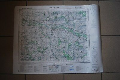 T1 Carte France ARCIS SUR AUBE 1970 plan 1/50000 type 1922 n°10 old map IGNF