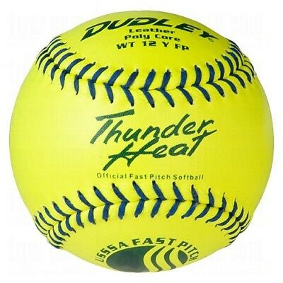 (30cm ) - Dudley USSSA Thunder Heat Fast Pitch Softball - 12 pack