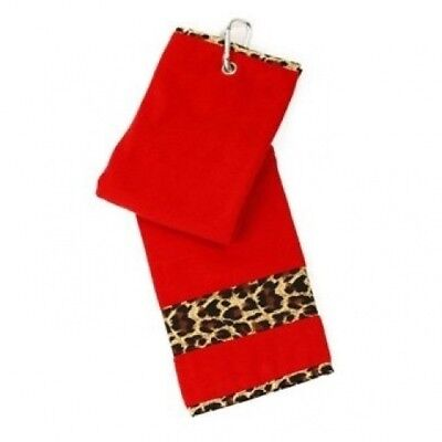 Golf Towel for Women - Glove It -Red - Leopard. GloveIt. Shipping Included