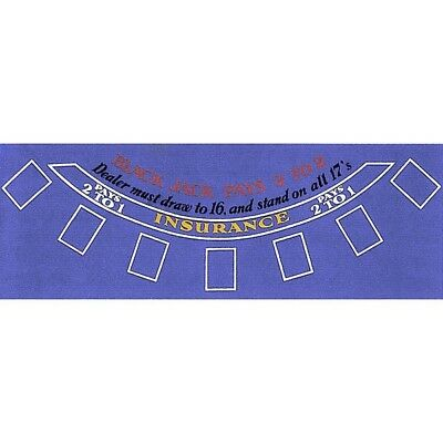 Trademark Poker Blackjack Layout, Blue Felt. Brand New