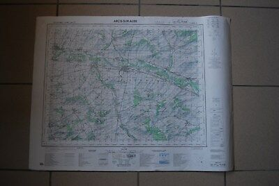 T1 Carte France ARCIS SUR AUBE 1970 plan 1/50000 type 1922 n°23 old map IGNF