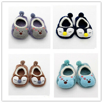 Cartoon New  Girl Boy Sock Cute Infant Toddler Learning Walking SocBLBU