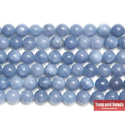 "8MM Natural Stone Angelite Round Loose Beads 6 8 10MM Pick Size 15"" Strand SAB15"