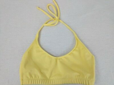 Katrina Dance Wear Girl's Yellow  Dance Top Bra Gymnastics Athletic Sz Yl