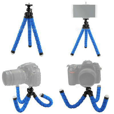 Universal Mini Flexible Octopus Tripod Mount Holder For Phone Camera Blue