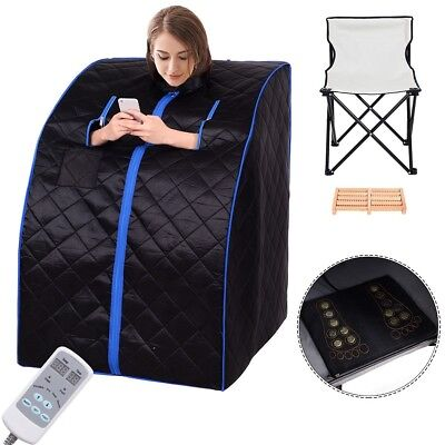 Portable Far Infrared Fancy Sauna Black Negative Ion Heater With Chair 1  Person