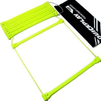 QUICKPLAY PRO Agility Ladder No Tangle 11-Rungs Quick Lock Adjustable Rungs –