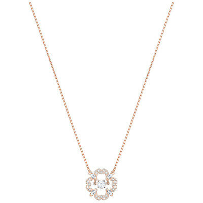 16bdeda74 Swarovski Sparkling Dance Flower Necklace - White - Rose Gold Plating -  5408437