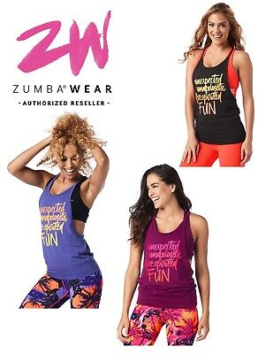 Zumba® Feel Free Tank - choose size and color - NWT!